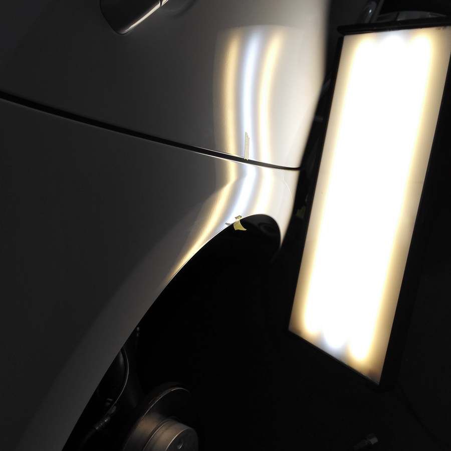 Dent removal with Lighting