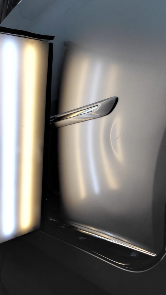 Toyota SAI dented door